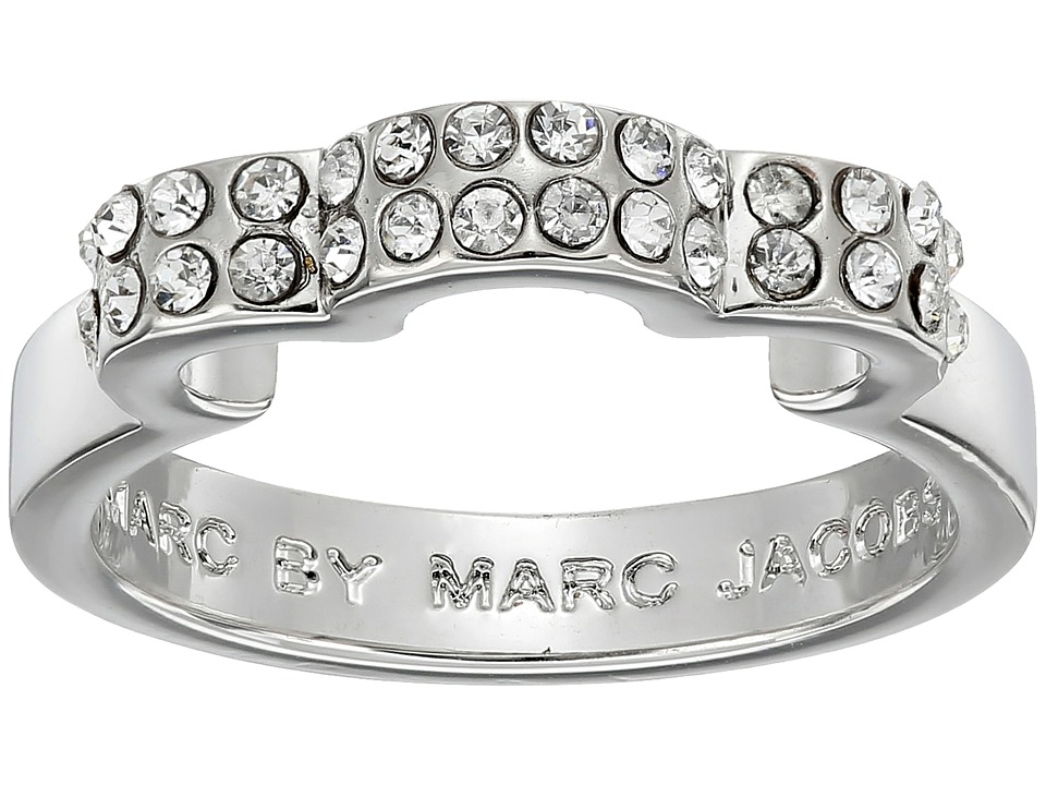 Marc by Marc Jacobs - Diamonds and Daisies Daisy Window Ring (Crystal/Argento) Ring
