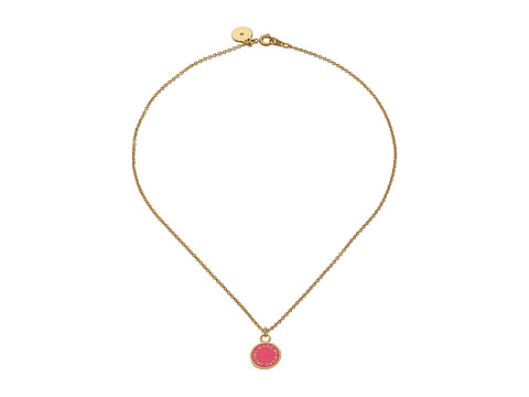 Marc by Marc Jacobs - Logo Disc-O Enamel Disc Pendant Necklace (Knock Out Pink) Necklace