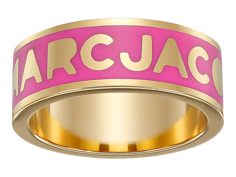 Marc by Marc Jacobs - Logo Disc-O Logo Band Ring (Knock Out Pink) Ring