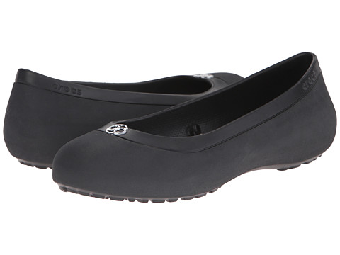 Crocs - Mammoth Disc Flat (Black/Silver) Women's Flat Shoes