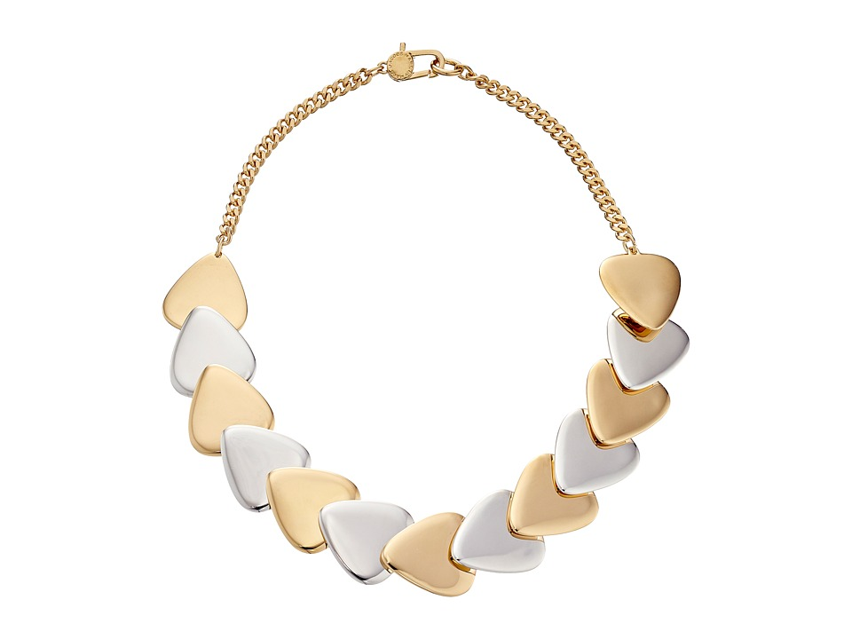 Marc by Marc Jacobs - Beat It Metal Plectrum Choker Necklace (Oro Multi) Necklace