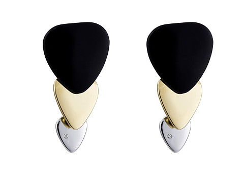 Marc by Marc Jacobs - Beat It Colored Plectrum Trio Earrings (Black Multi) Earring