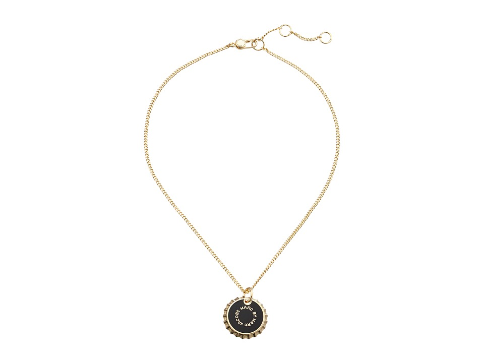 Marc by Marc Jacobs - Lost and Found Colored Bottle Top Pendant Necklace (Black) Necklace