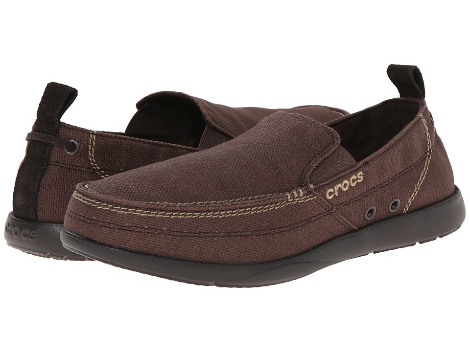 Crocs - Walu (Espresso/Espresso) Men's Slip on Shoes