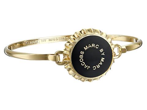 Marc by Marc Jacobs - Lost and Found Colored Bottle Top Hinge Bracelet (Black) Bracelet