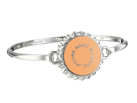 Marc by Marc Jacobs - Lost and Found Colored Bottle Top Hinge Bracelet (Neon Orange) Bracelet