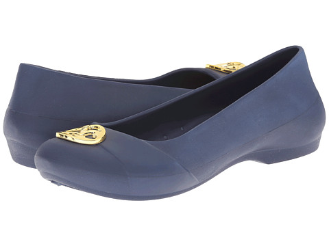 Crocs - Gianna Disc Flat (Navy/Gold) Women's Flat Shoes