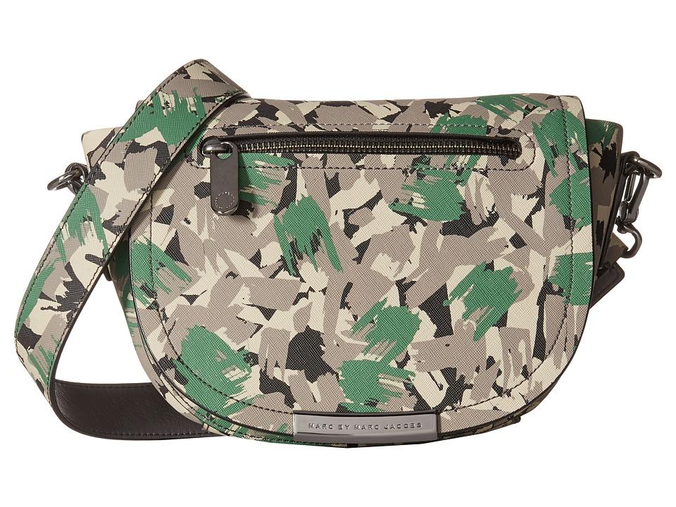 Marc by Marc Jacobs - Luna Brush Tips Crossbody (Dark Moss Multi) Cross Body Handbags