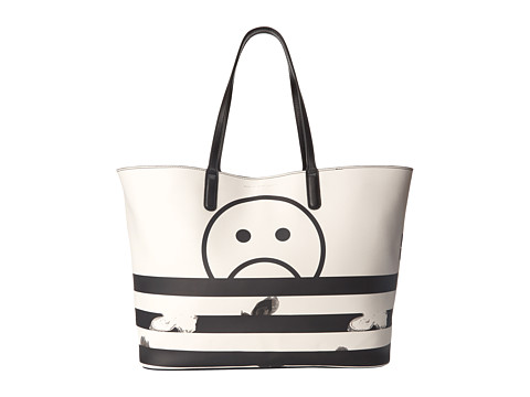 Marc by Marc Jacobs - Metropoli Unsmiley Stripes Travel Tote (Star White Multi) Tote Handbags