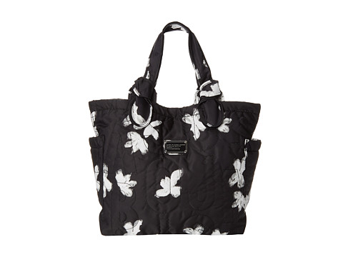 Marc by Marc Jacobs - Pretty Nylon Painted Flower Medium Tote (Black Multi) Tote Handbags