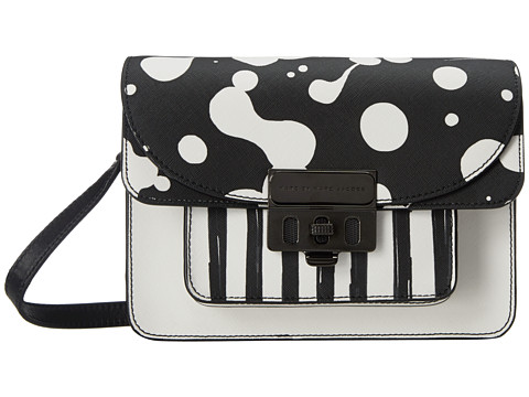 Marc by Marc Jacobs - Lip Lock Jumbled Print Crossbody (Blackest Multi) Cross Body Handbags