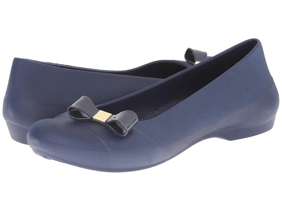 Crocs - Gianna Simple Bow Flat (Navy/Navy) Women's Flat Shoes