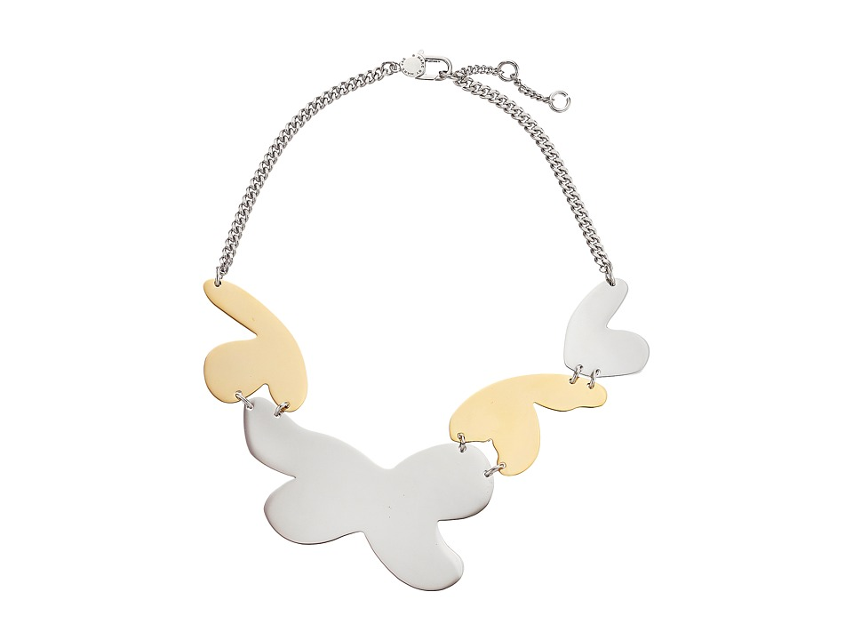 Marc by Marc Jacobs - Wildflower Metal Petal Statement Necklace (Argento Multi) Necklace