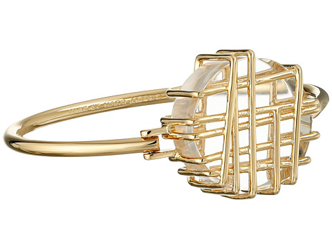 Marc by Marc Jacobs - Wildflower Scribble Hinge Bracelet (Clear) Bracelet