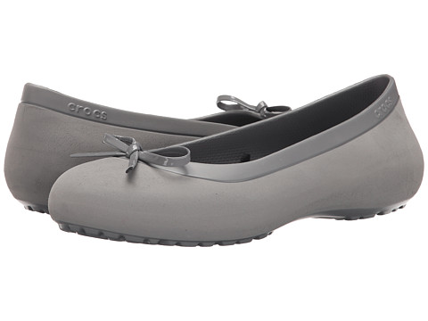 Crocs - Mammoth Bow Flat (Smoke/Smoke) Women