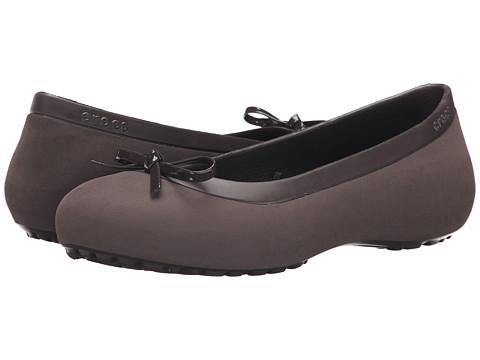 Crocs - Mammoth Bow Flat (Espresso/Espresso) Women