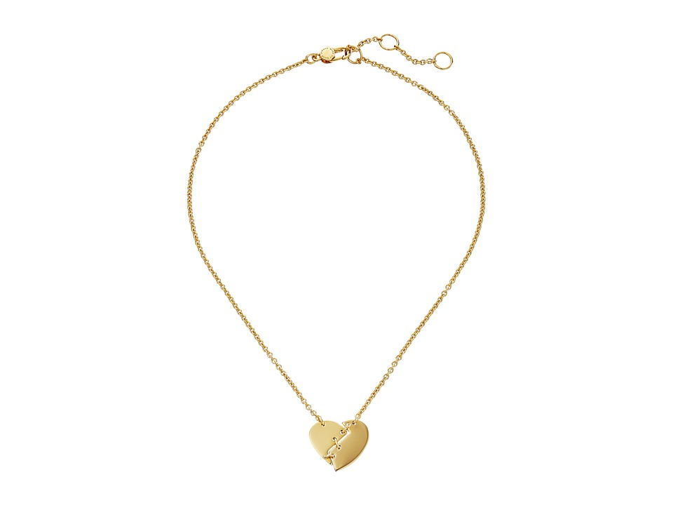 Marc by Marc Jacobs - Heart Core Broken Hearted Pendant Necklace (Oro) Necklace