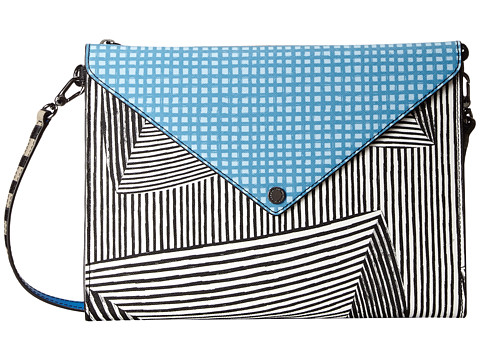 Marc by Marc Jacobs - Metropoli Optical Stripe Multi Envelope Tablet Crossbody (Black Multi) Computer Bags