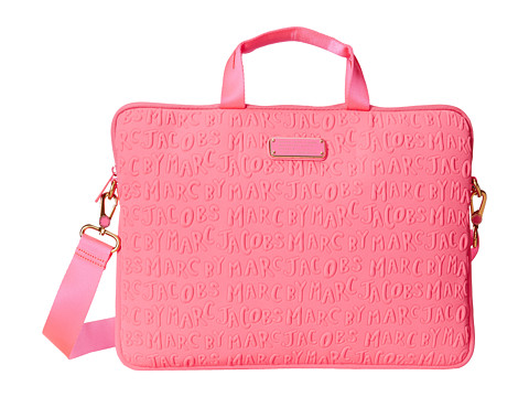 Marc by Marc Jacobs - Adults Suck Neoprene 15 Commuter Bag (Knockout Pink) Computer Bags