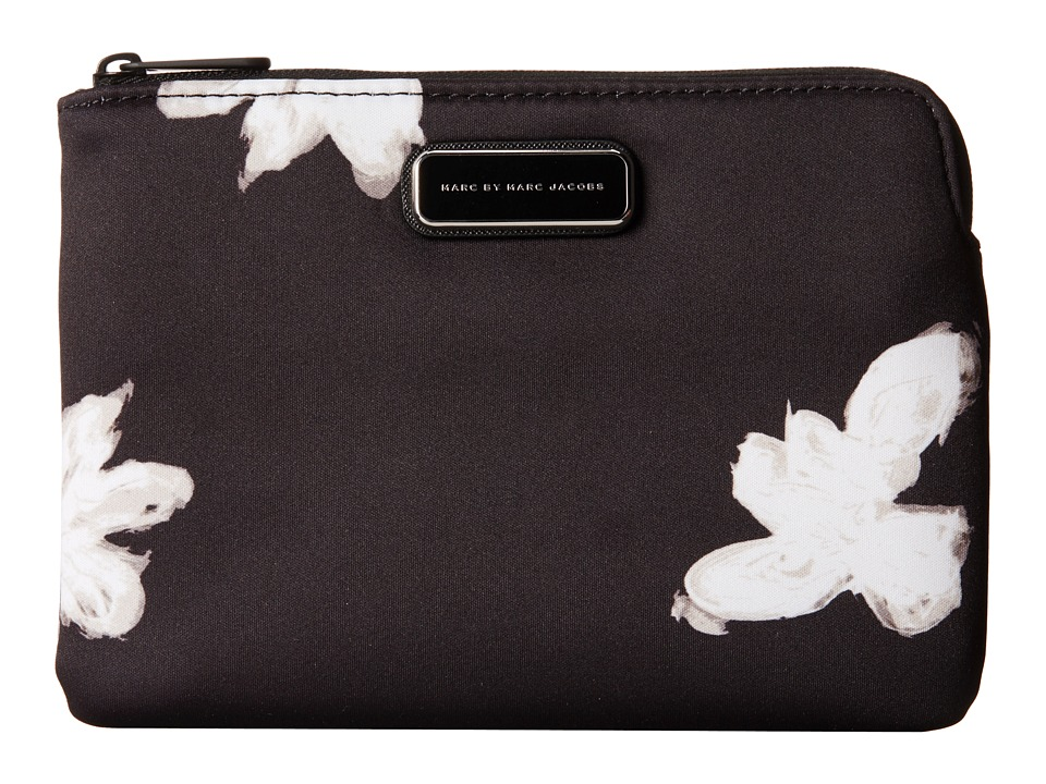 Marc by Marc Jacobs - Neoprene Painted Flower Multi Tech Mini Tablet Zip Cutout Case (Black Multi) Computer Bags