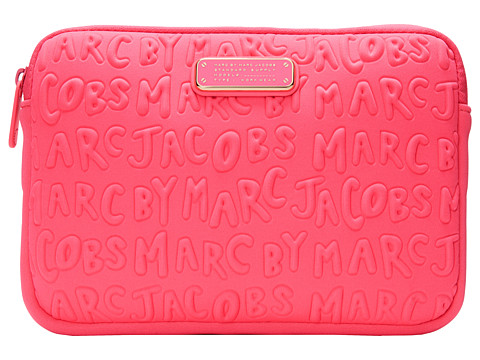 Marc by Marc Jacobs - Adults Suck Neoprene Mini Tablet Case (Knockout Pink) Computer Bags