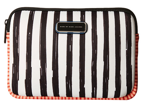 Marc by Marc Jacobs - Neoprene Optical Stripe Multi Tech Mini Tablet Case (Black Multi) Computer Bags