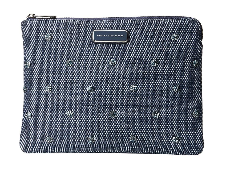 Marc by Marc Jacobs - Neoprene Denim Studs Tech Tablet Cutout Case (Navy Denim Multi) Computer Bags