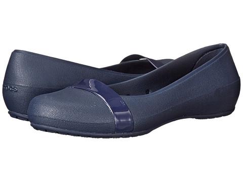 Crocs - New Commuter Plain Strap Flat (Navy/Navy) Women