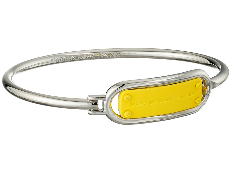 Marc by Marc Jacobs - Key Items Colored Ring Around Plaque Hinge Bracelet (Zest) Bracelet