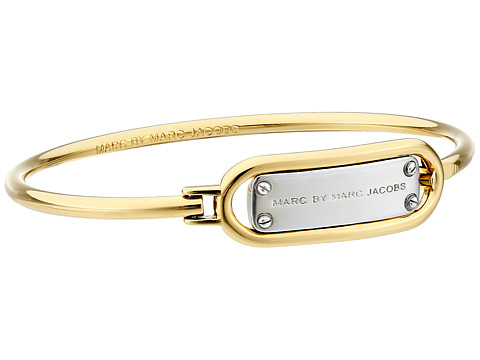 Marc by Marc Jacobs - Key Items Ring Around Plaque Hinge Bracelet (Argento Multi) Bracelet