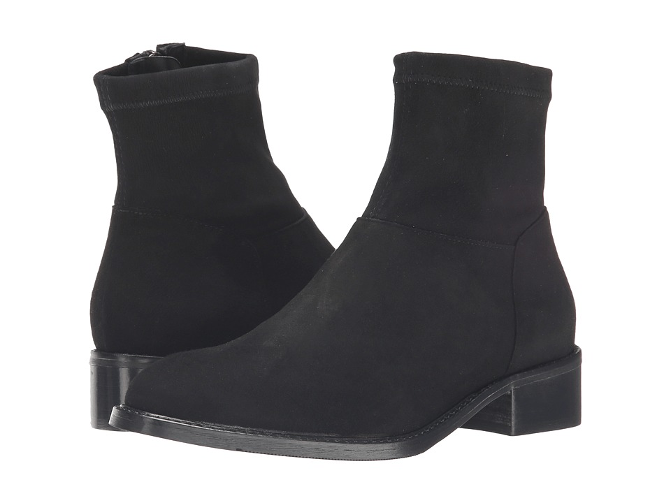 Sesto Meucci - Albie (Black Suede/Matching Stretch Suede) Women