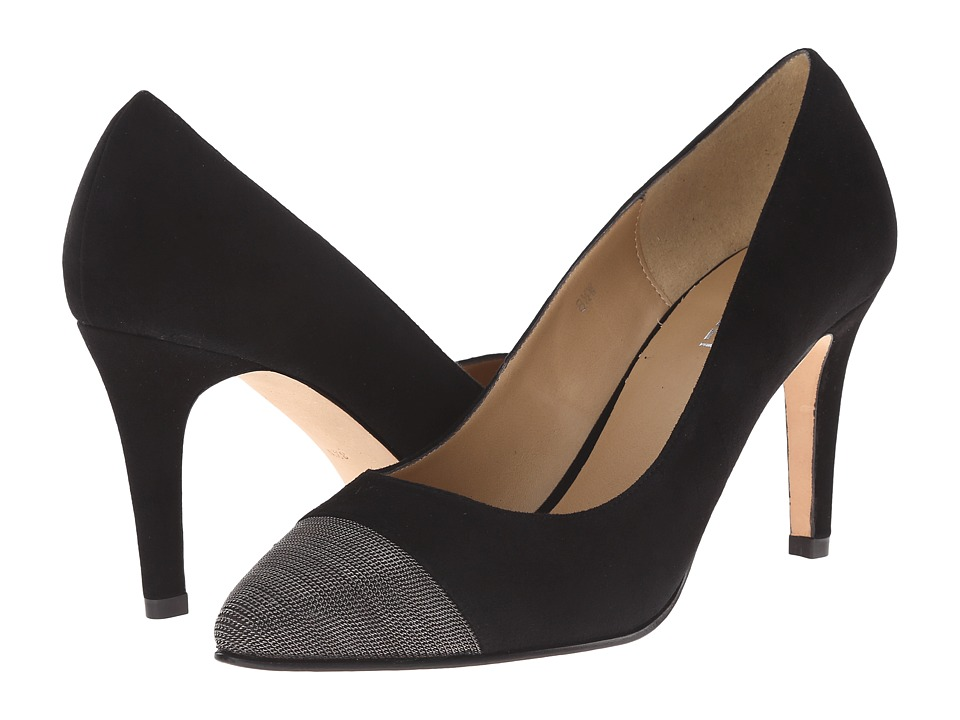 Vaneli - Anabel (Black Suede/Pewter Chain) High Heels