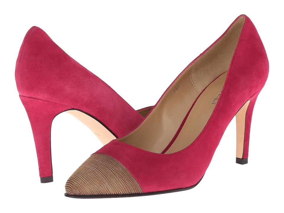 Vaneli Anabel (Red Suede/Gold Chain) High Heels