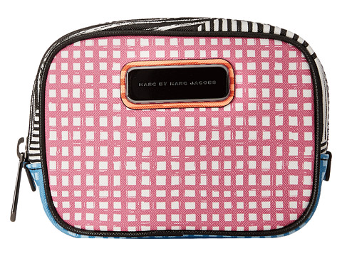 Marc by Marc Jacobs - Sophisticato Optical Stripe Multi Small Box Cosmetic (Black Multi) Cosmetic Case