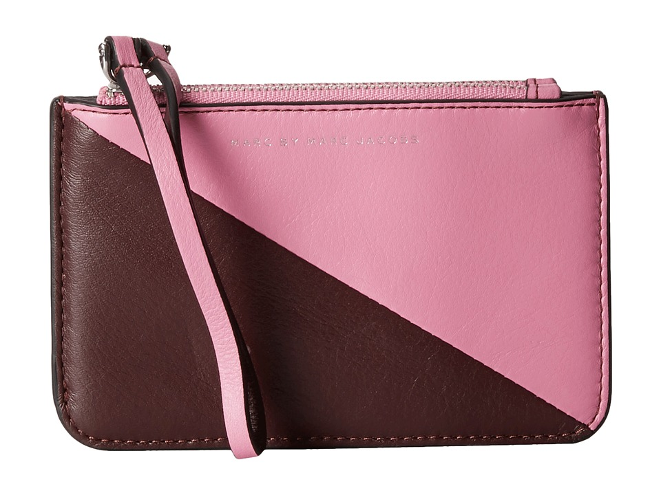 Marc by Marc Jacobs - Sophisticato Sliced Double Wristlet (Pink Bubblegum Multi) Wristlet Handbags