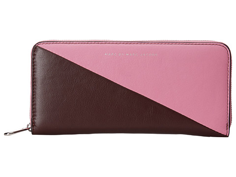 Marc by Marc Jacobs - Sophisticato Sliced Slim Zip Around (Pink Bubblegum Multi) Wallet