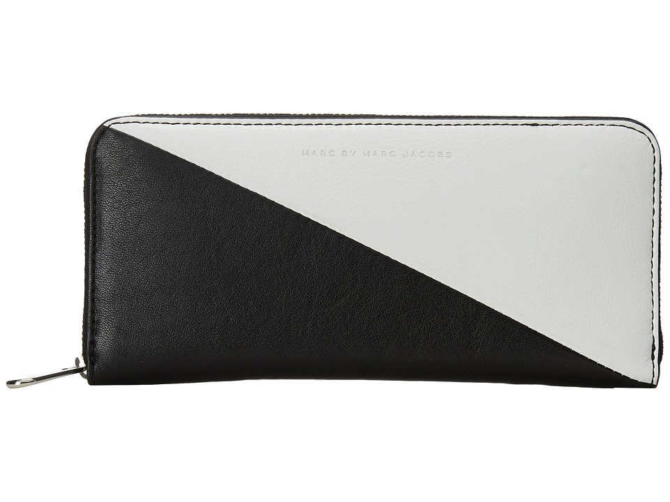 Marc by Marc Jacobs - Sophisticato Sliced Slim Zip Around (Star White Multi) Wallet