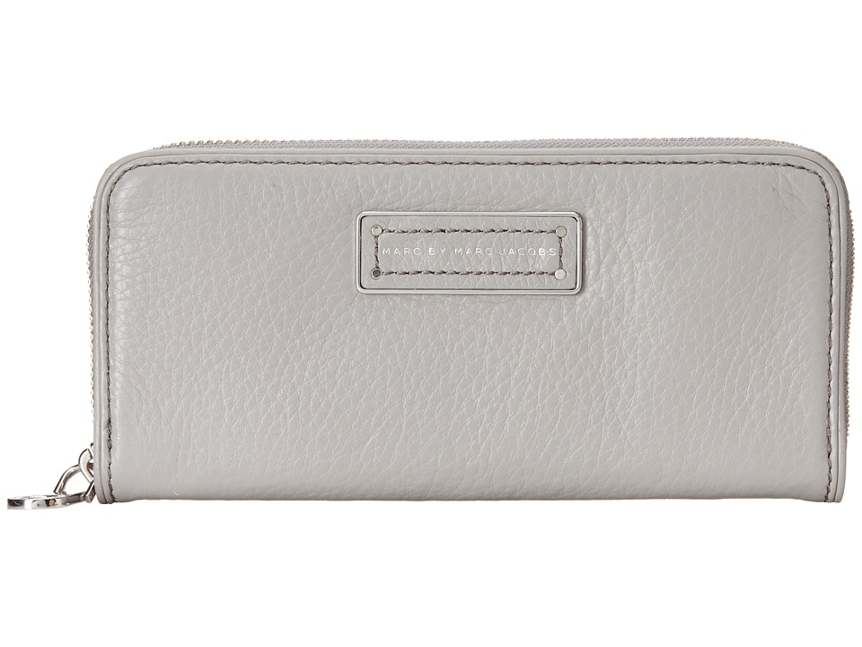 Marc by Marc Jacobs - Too Hot To Handle Slim Zip Around (Storm Cloud) Checkbook Wallet