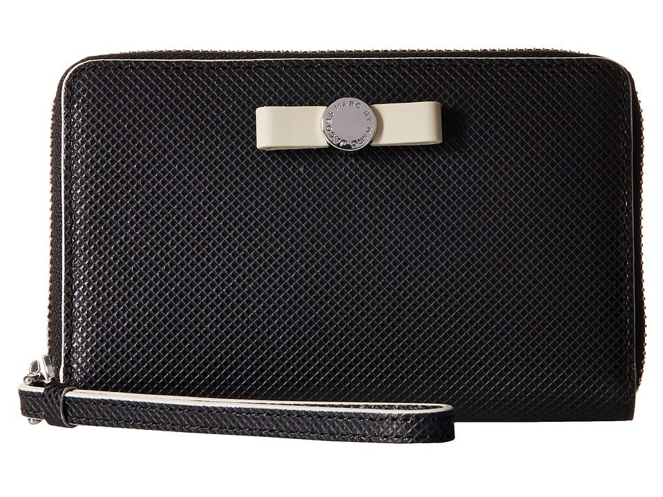 Marc by Marc Jacobs - Sophisticato Disc Bow Wingman (Black) Wallet