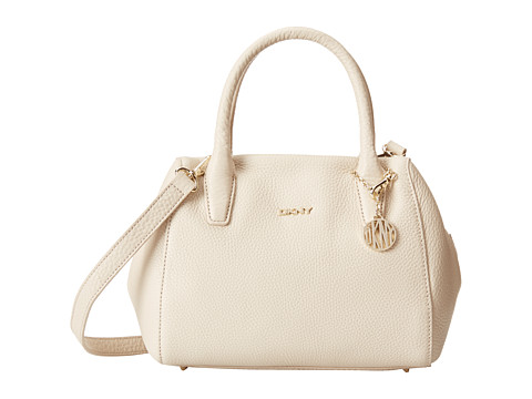 DKNY - Tribeca - Soft Tumbled Small Satchel w/ Center Zip and Det Shoulder Strap (Sand) Satchel Handbags