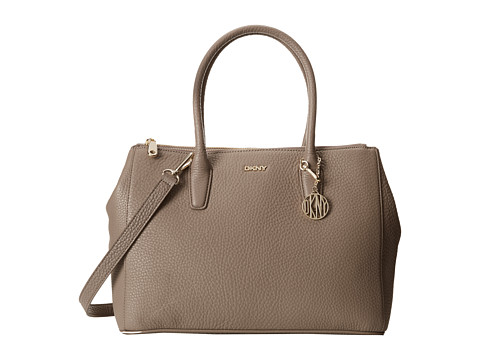 DKNY - Tribeca - Soft Tumbled Large Double Zip Shopper w/ Det Shoulder Strap (Desert) Handbags