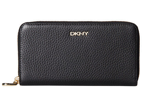 DKNY - Tribeca Soft Large Zip Around (Black) Wallet