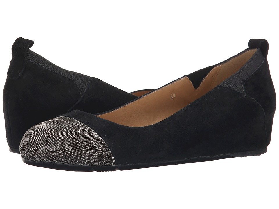 Vaneli Ardelia (Black Suede/Pewter Chain/Black Elastic) Women