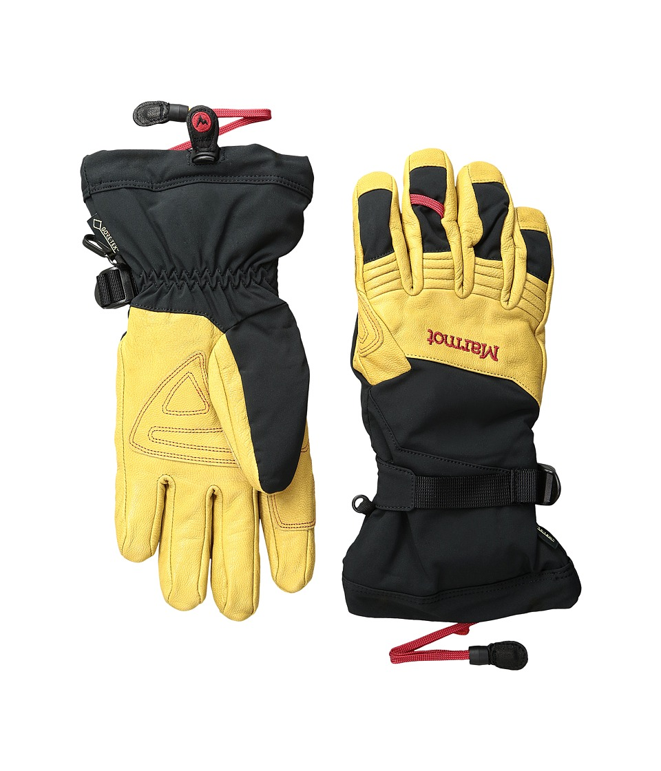 Marmot - Ultimate Ski Glove (Black/Tan) Ski Gloves