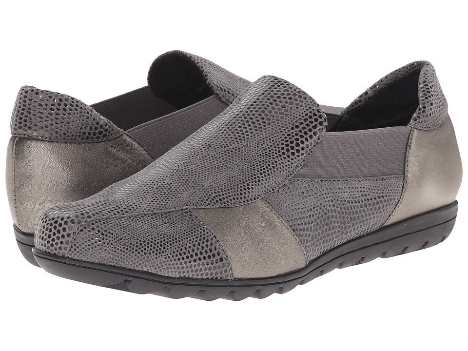 Vaneli - Aroma (Grey Amazzonia/Pewter Prl Nappa) Women's Slip on Shoes