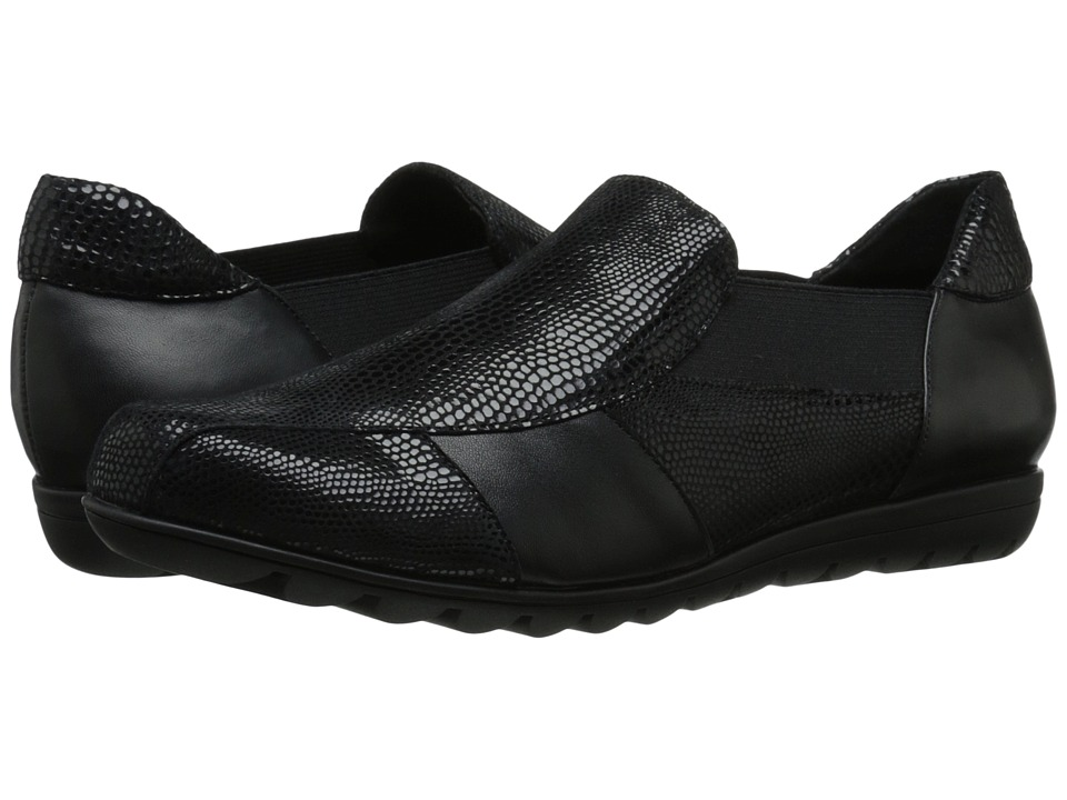 Vaneli - Aroma (Black Amazzonia/Black Nappa) Women's Slip on Shoes