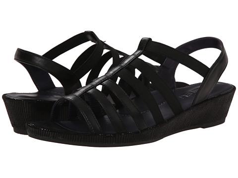 Womens Sandals Vaneli Darena Black Nappa/Black Miniliz/Black Elastic