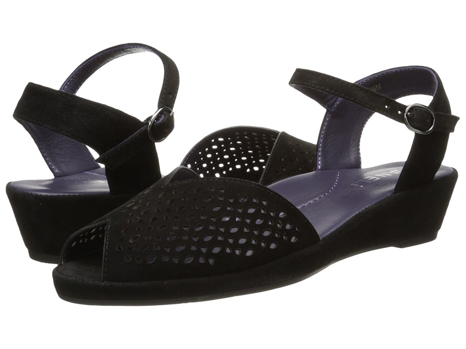 Vaneli - Darlene (Black Suede) Women's Sandals