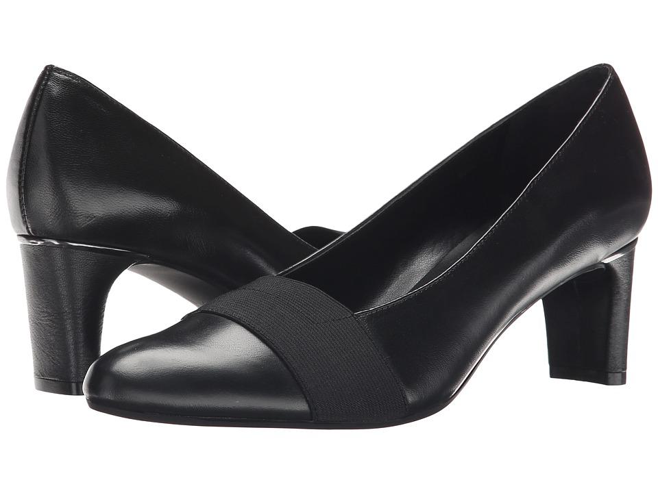 Vaneli - Davis (Black Nappa/Black Elastic) Women's 1-2 inch heel Shoes