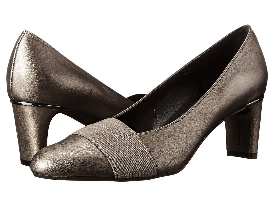 Vaneli - Davis (Pewter Prl Nappa/Mtch Elastic) Women's 1-2 inch heel Shoes